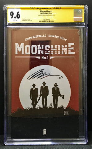 Moonshine #1 CGC 9.6 SS SIGNED BY BRIAN AZZARELLO IMAGE COMICS