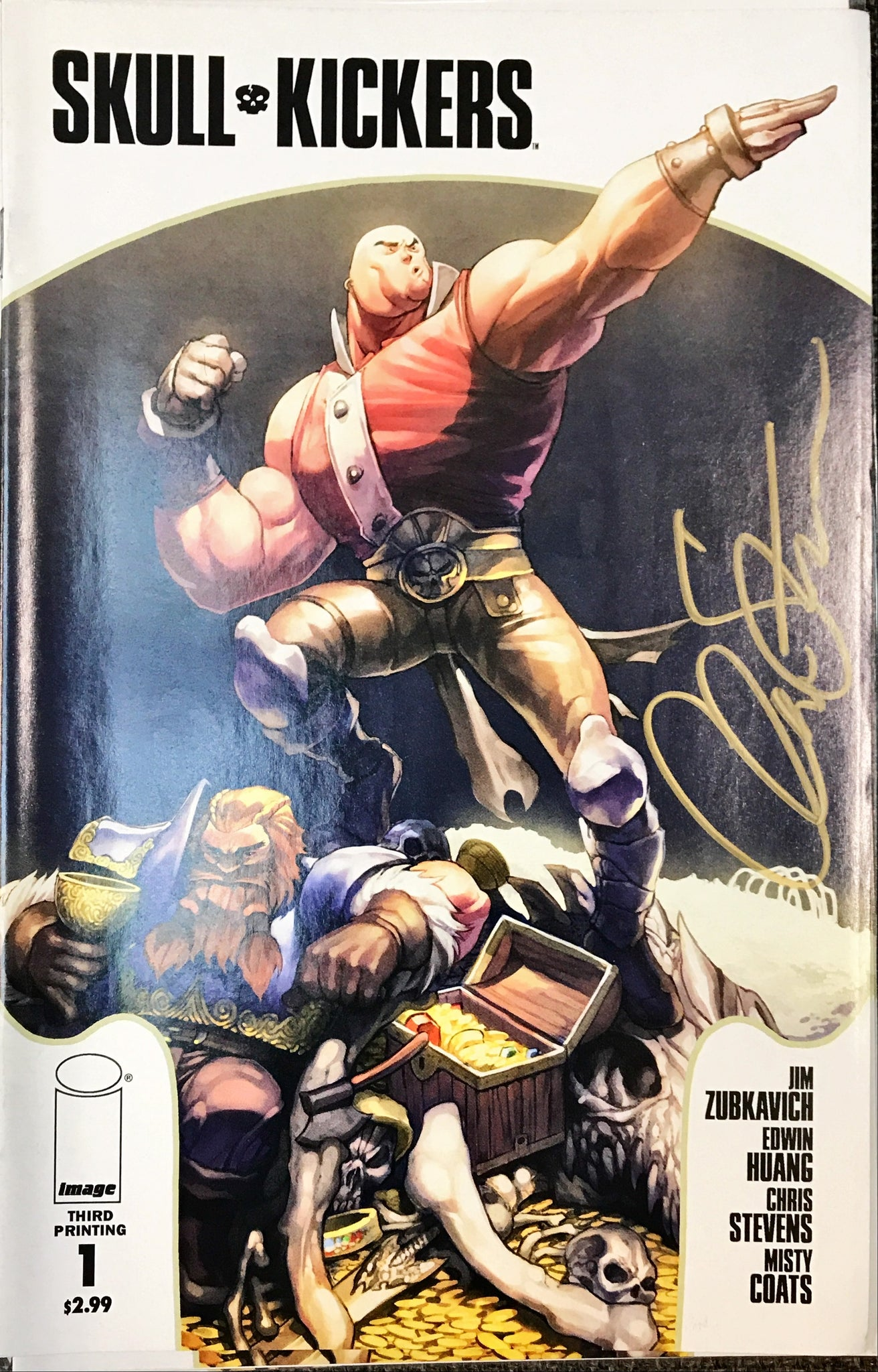 SKULLKICKERS #1 THIRD PRINTING SIGNED BY CHRIS STEVENS