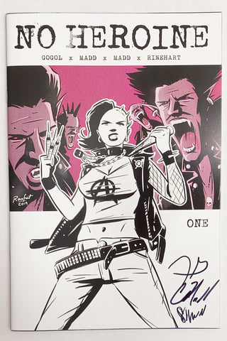 No Heroine #1 Triple Signed