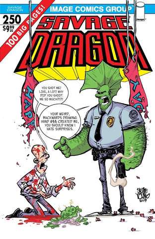 Savage Dragon #250 Cover E Scottie Young Variant