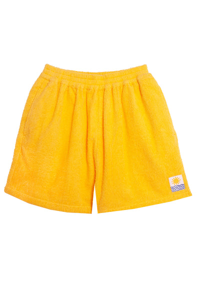 Basic Towelling Shorts Sunflower