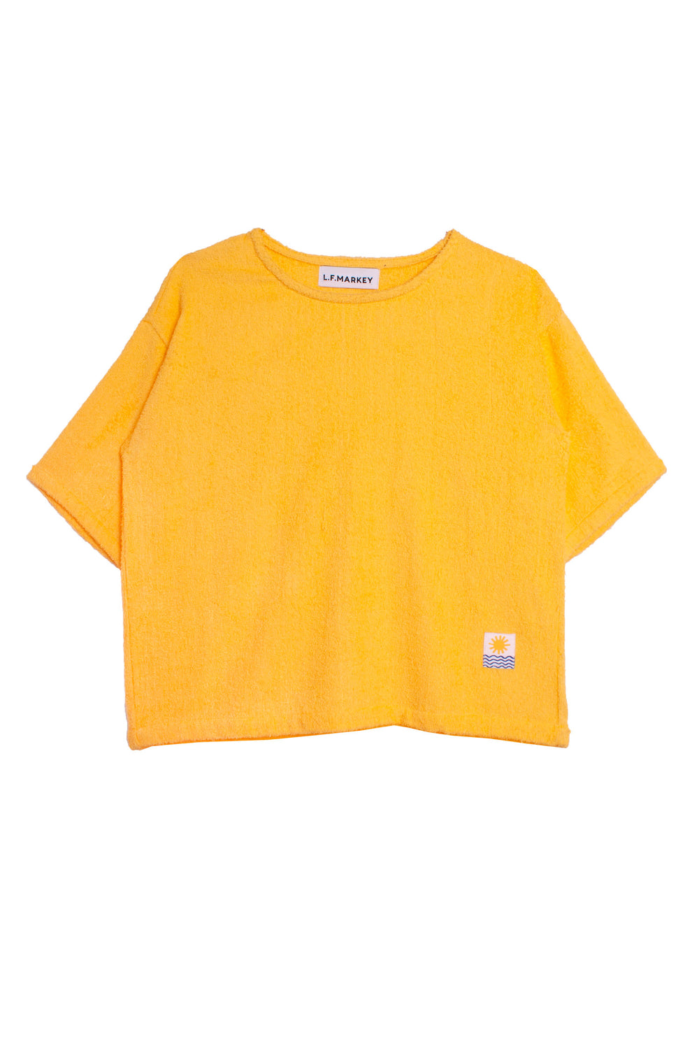 Basic Towelling Top Sunflower