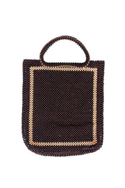 Wooden Beaded Bag