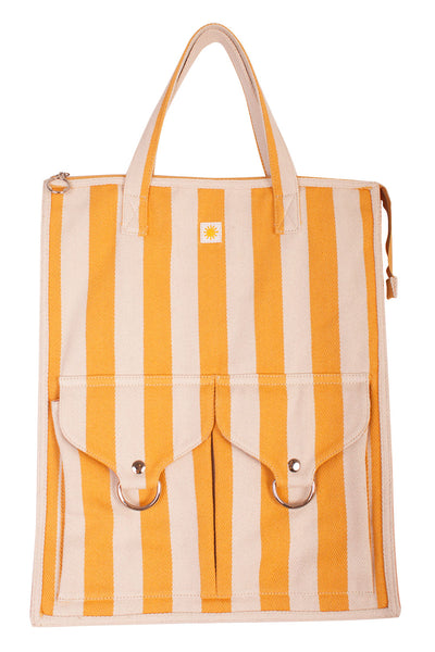 Striped Shopper Yellow