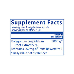 Resveratrol Ultra High Potency (60 caps)