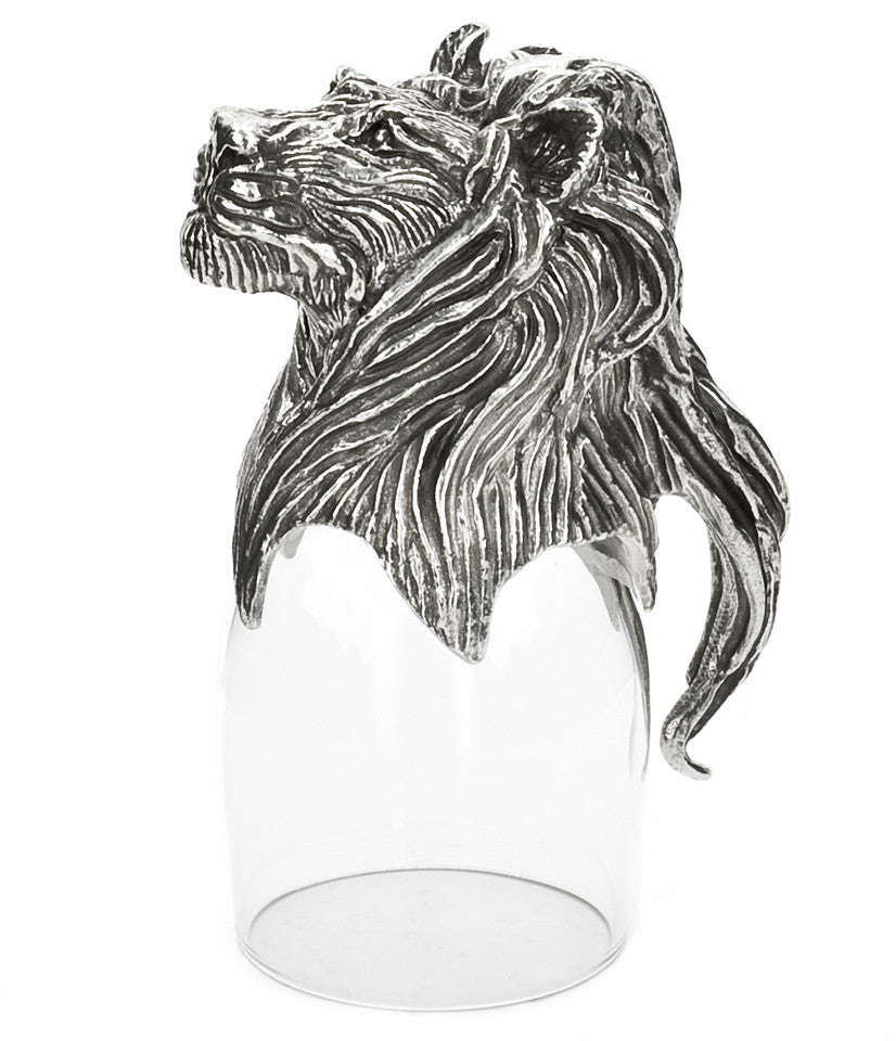 Lion Port Glass