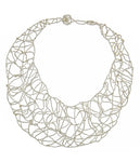 Silver Bib Necklace