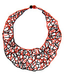 Red And Black Bib Necklace