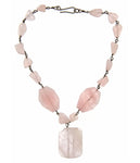 Rose Quartz Medley Necklace