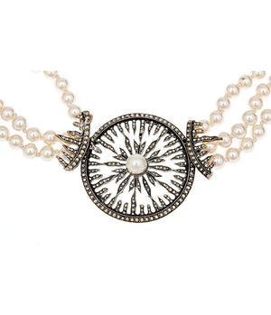 Fiery Wagon Wheel Necklace