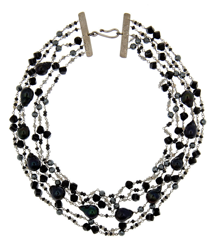 Black Magic Multi Strand Necklace