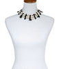 Pearl Collar Black Czech Glass Coral