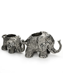 Parading Elephants Candle Holders (Pair)