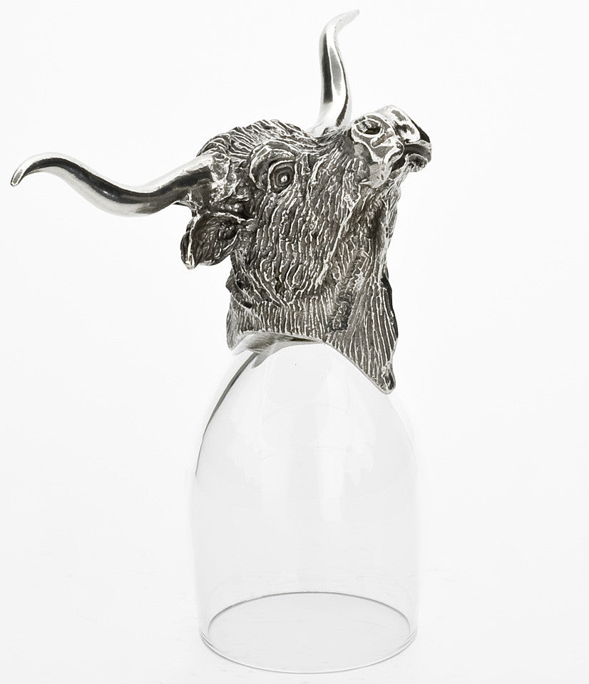 Texas Longhorn Port Glass
