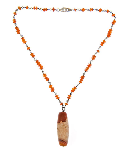 Carnelian Necklace with Sterling Silver