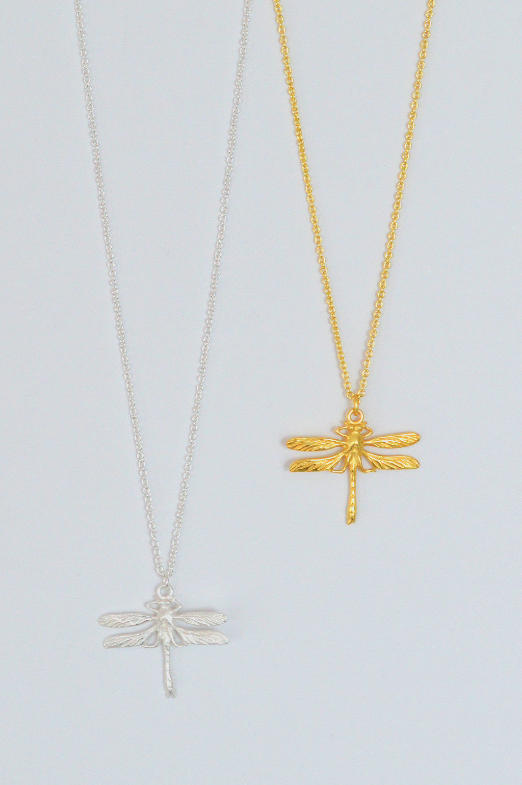 beck and boosh beck & boosh dragonfly pendant necklace delicate chain with beautiful dragonfly pendant made of pure brass comes in gold and silver