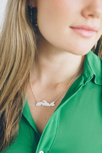 NOVA SCOTIA MAP NECKLACE