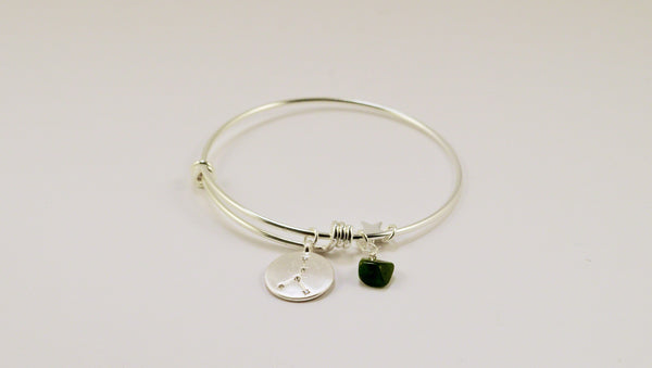 beck & boosh horoscope collection fashion jewelry cancer bracelet cancer necklace zodiac jewelry with charms and raw gems