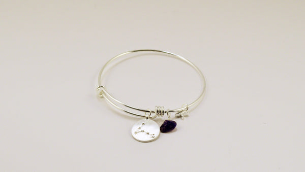 beck & boosh horoscope collection fashion jewelry pisces bracelet pisces necklace zodiac jewelry with charms and raw gems