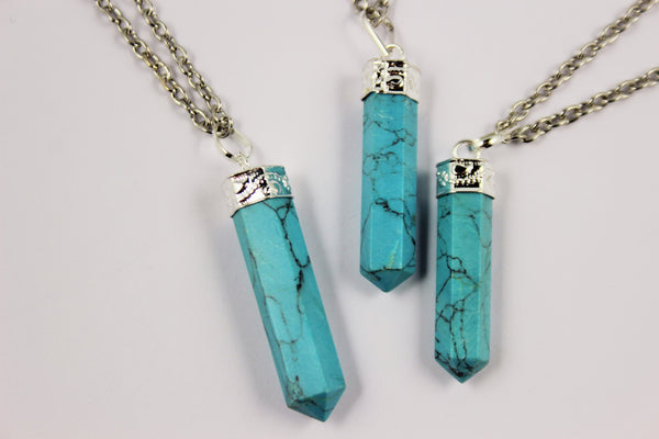 TURQUOISE GEMSTONE NECKLACES