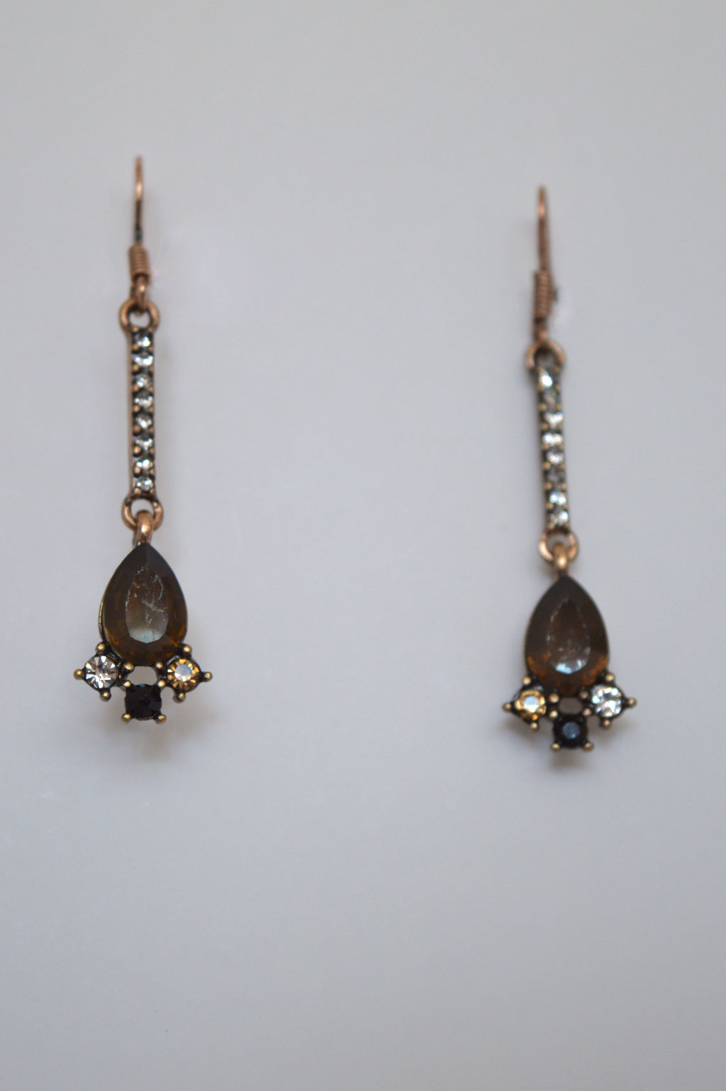 VINTAGE COPPER DROP EARRINGS