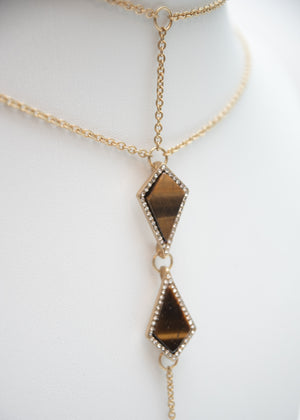 VINTAGE TIGERS EYE NECKLACE