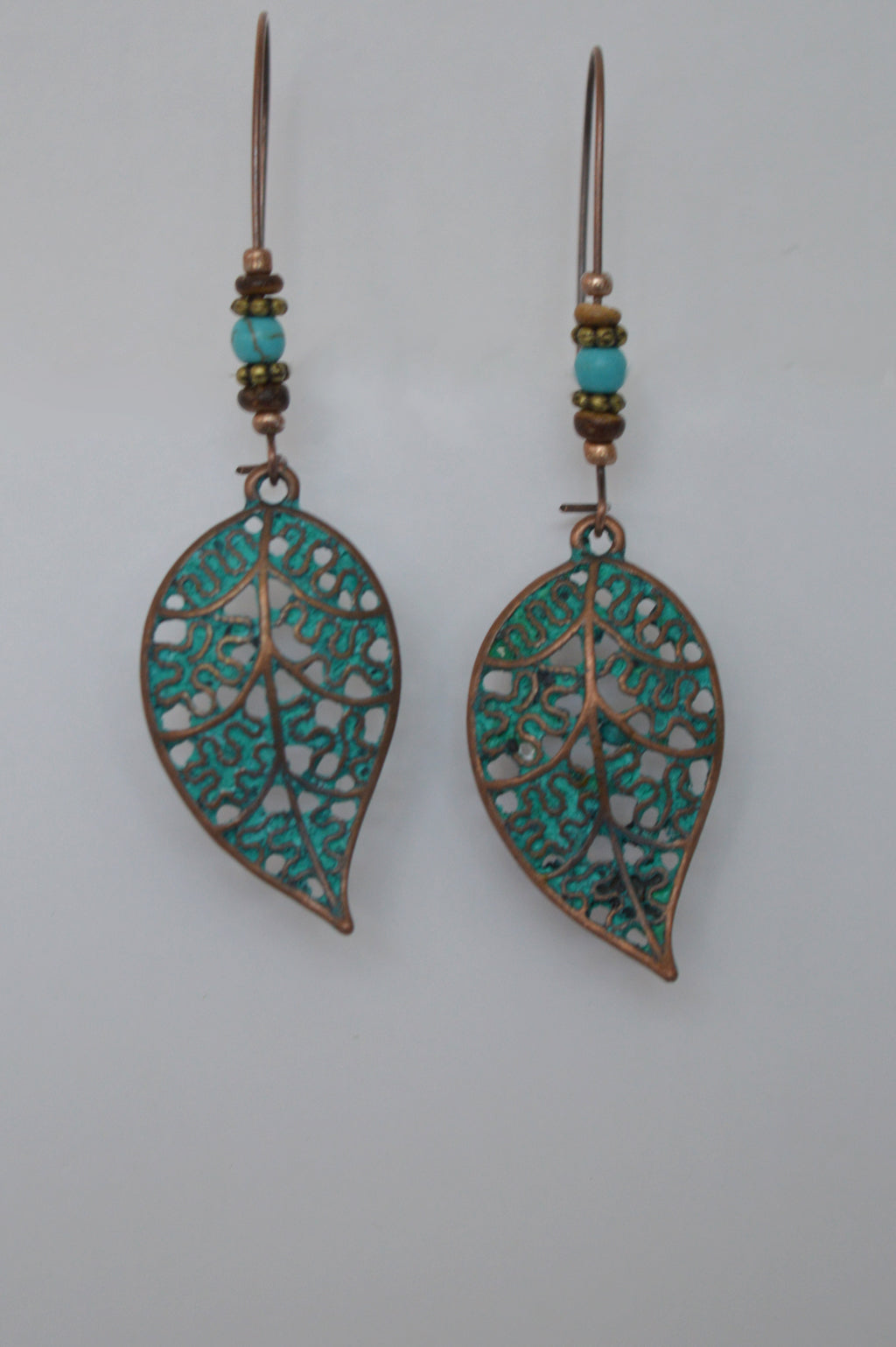 PATINA LEAF EARRINGS