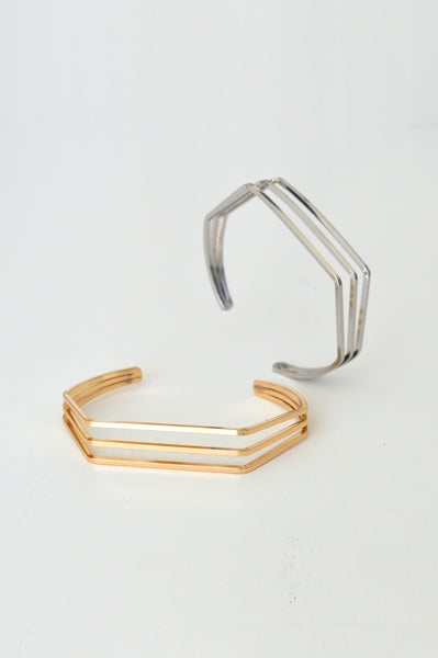 beck & boosh beck and boosh cecilia cuff geometric inspired fashion jewelry design minimal clean delicate and modern jewelry