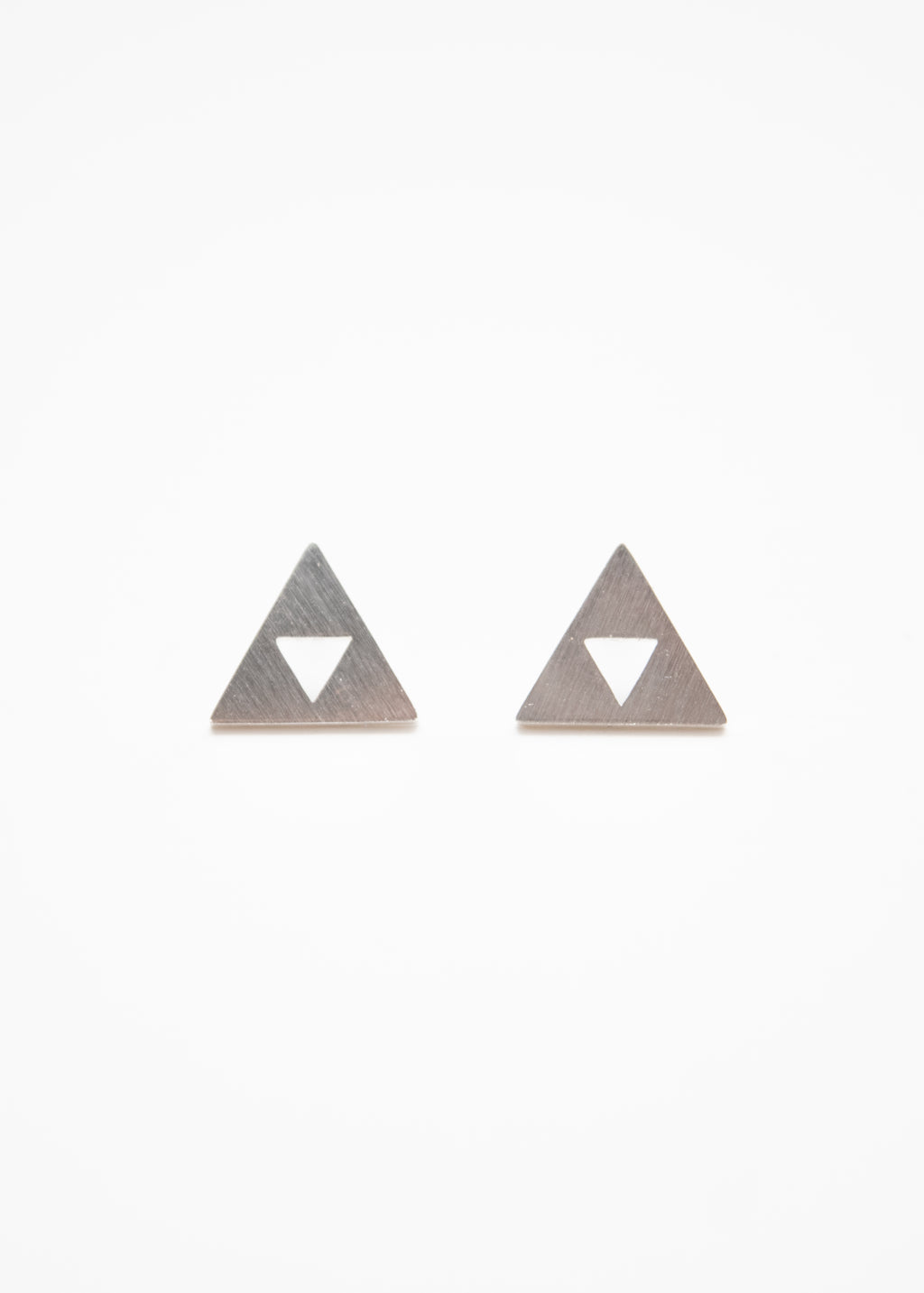 Beck & Boosh Din Studs Triangle Posts with Triangle Hole Center Silver Stainless Steel