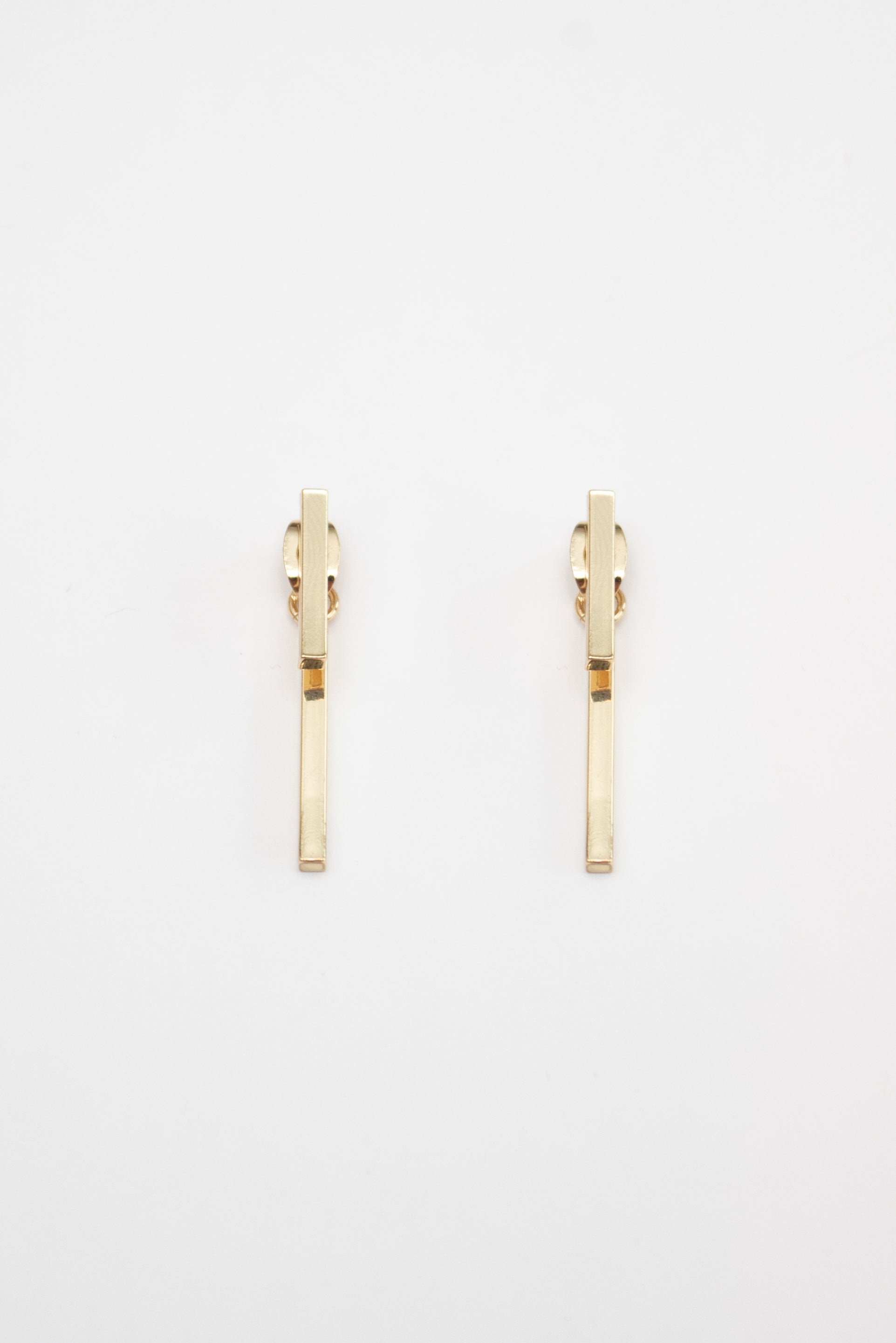Beck & Boosh Double Bar Ear Jacket Slim Double Rectangle Plated in Gold
