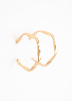 Beck & Boosh Drizzle Hoops Ribbon Twist Hoops on Matte Plated gold