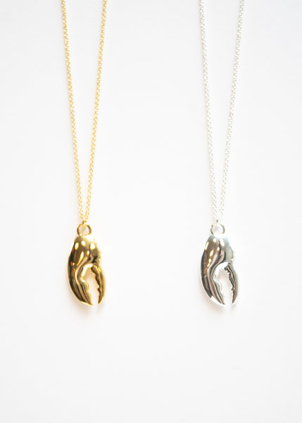 Beck & Boosh Lobster Claw Pendent Necklace Plated in Gold or Silver