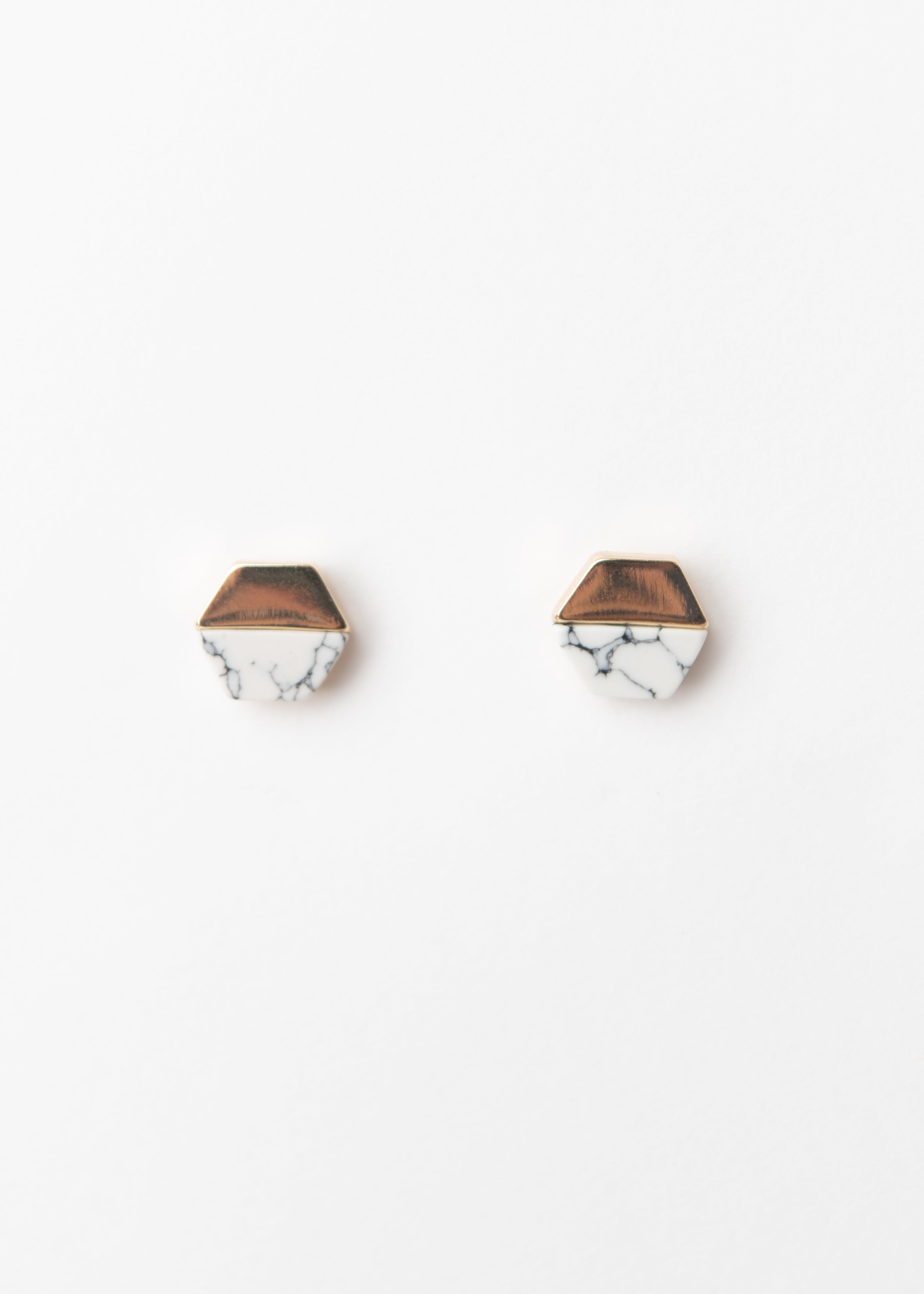 MARBLE HEX STUDS