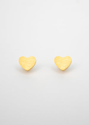 Beck & Boosh Amour Studs Gold Hearts Stainless Steel