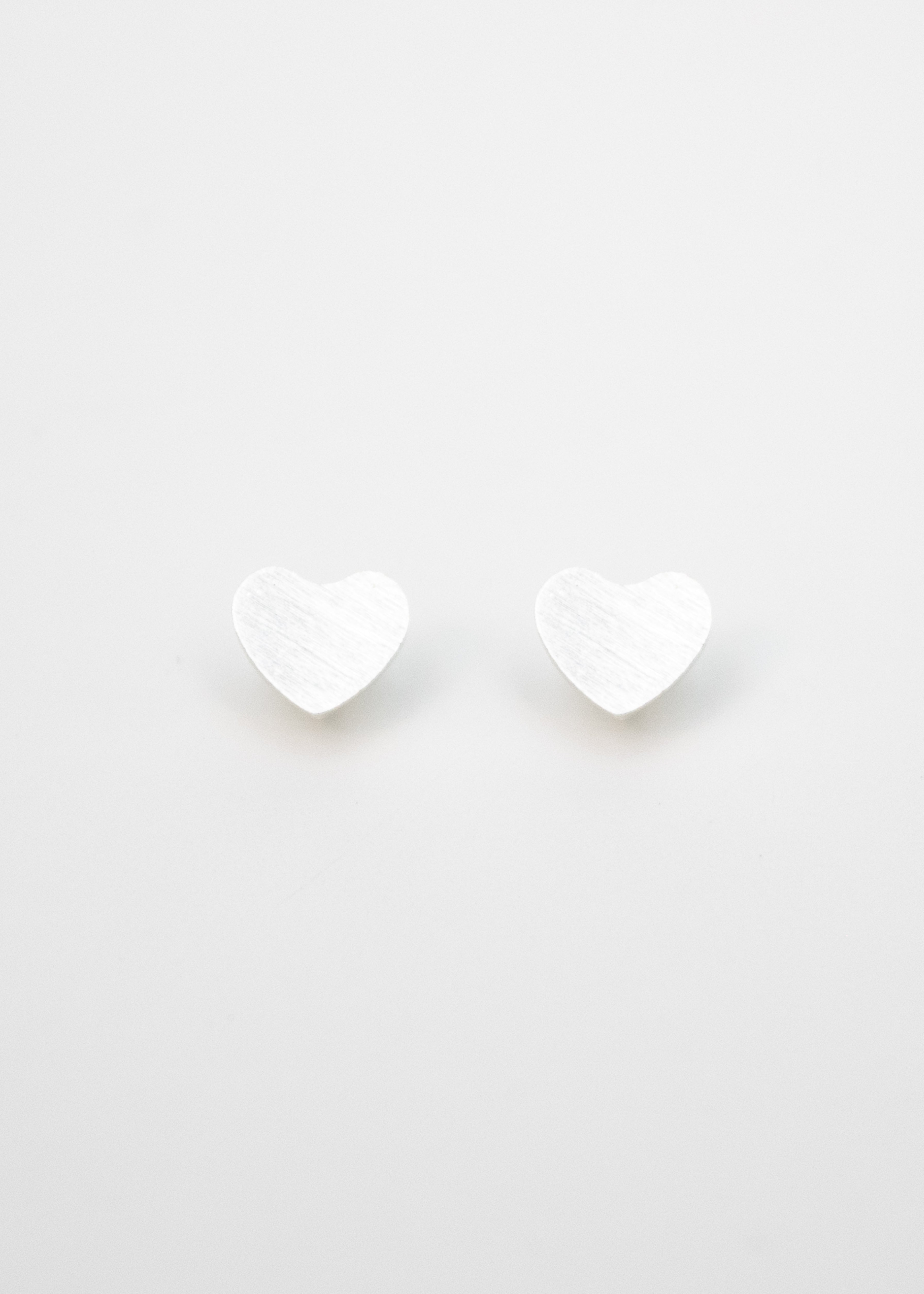 Beck & Boosh Amour Studs Silver Hearts Stainless Steel