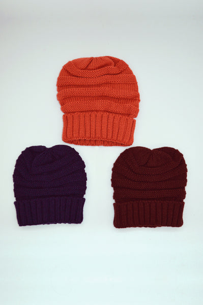 Beck & Boosh winter toques and accessories knit hats in red blue black grey orange brown one size