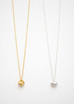 Beck & Boosh Oyster & Pearl Short Necklace Double Shell with Inside Pearl Plated in Gold or Silver