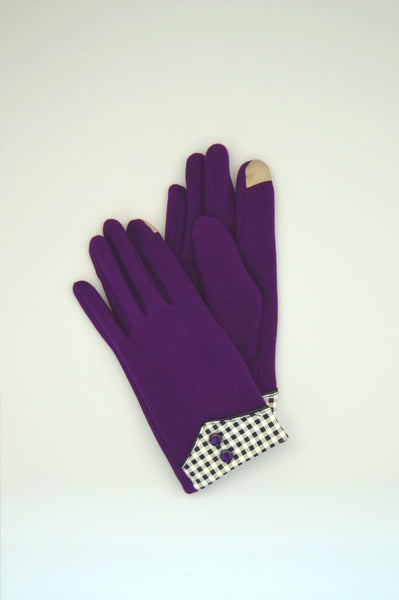 GLOVES WITH CHECKERED CUFF