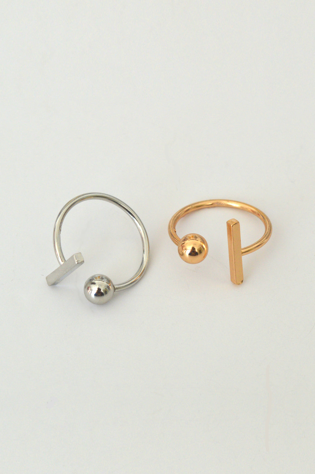 beck & boosh beck and boosh rod and sphere ring geometric inspired modern fashion jewelry