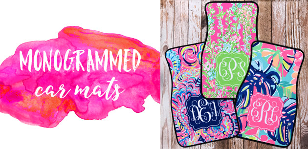 Click here to view our monogrammed car mats!