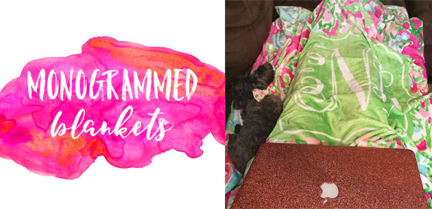 Click here to view our monogrammed blankets!