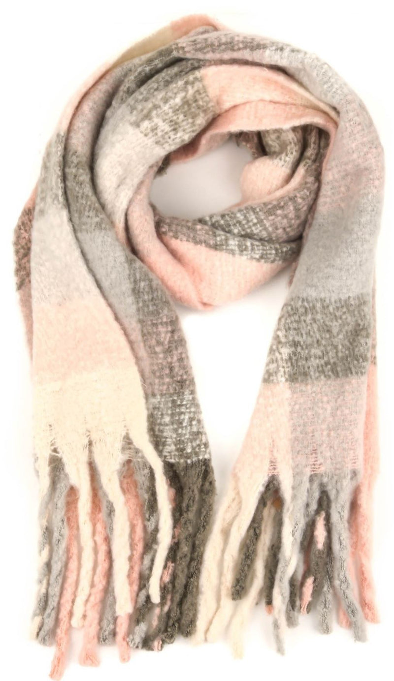 Prep Brushed Plaid Scarf - 3 colors!