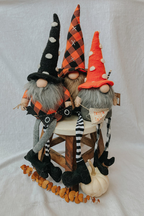 Large Dangle Leg Halloween Gnome