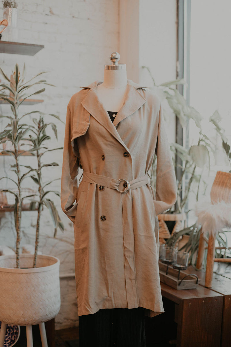 Lucinta Trench Coat - size large only