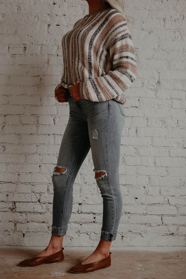 First Love Distressed Skinny Denim