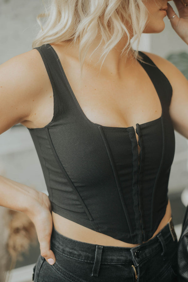 Whiskey Nights Bustier Top