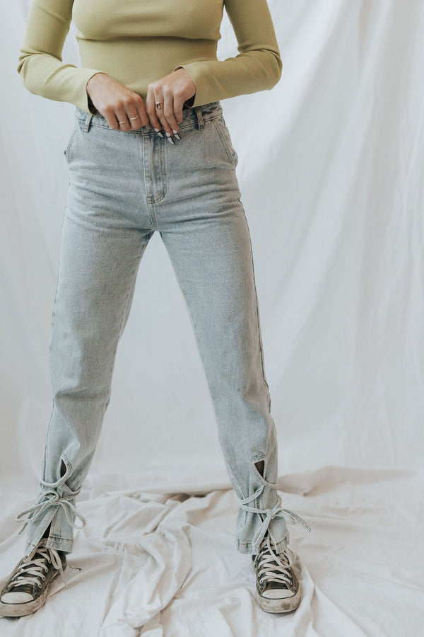 Generational Ankle Tie Jeans