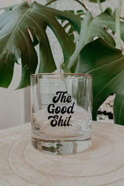 The Good Shit Gentleman's Whiskey Glass