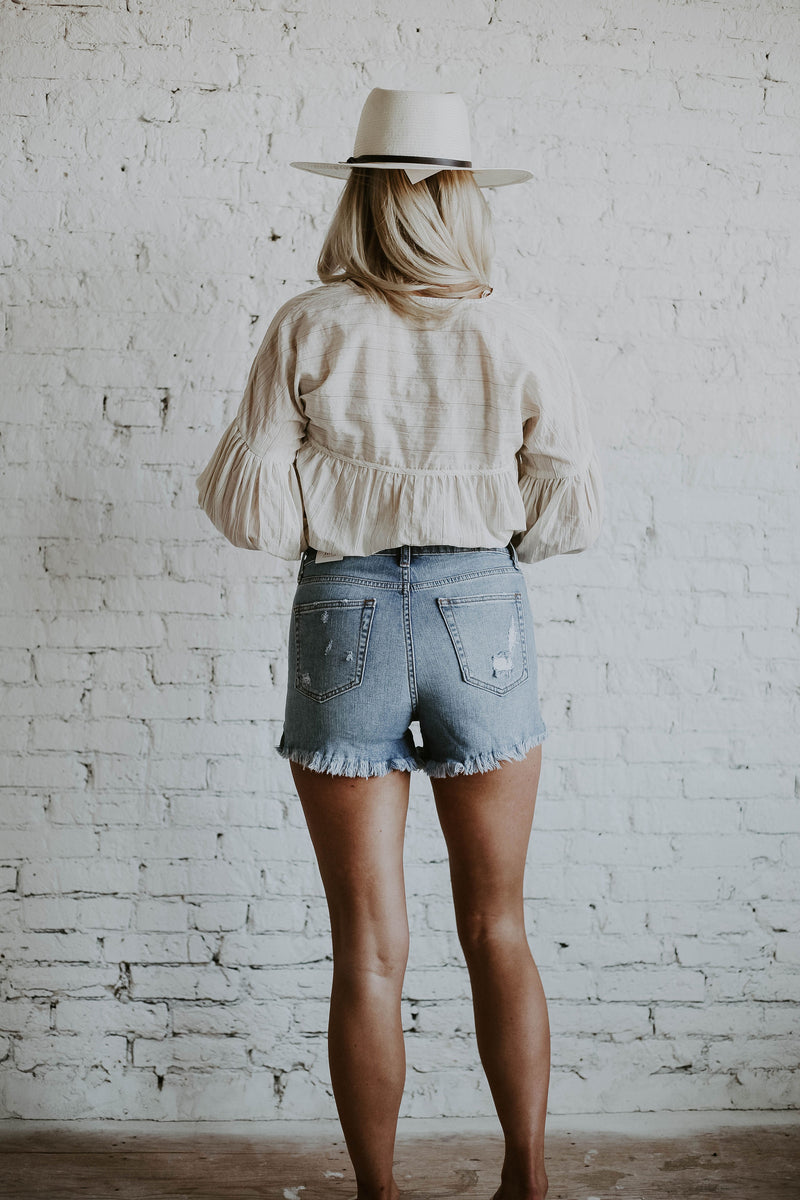 Just Black Rally Distressed Shorts (O+P)