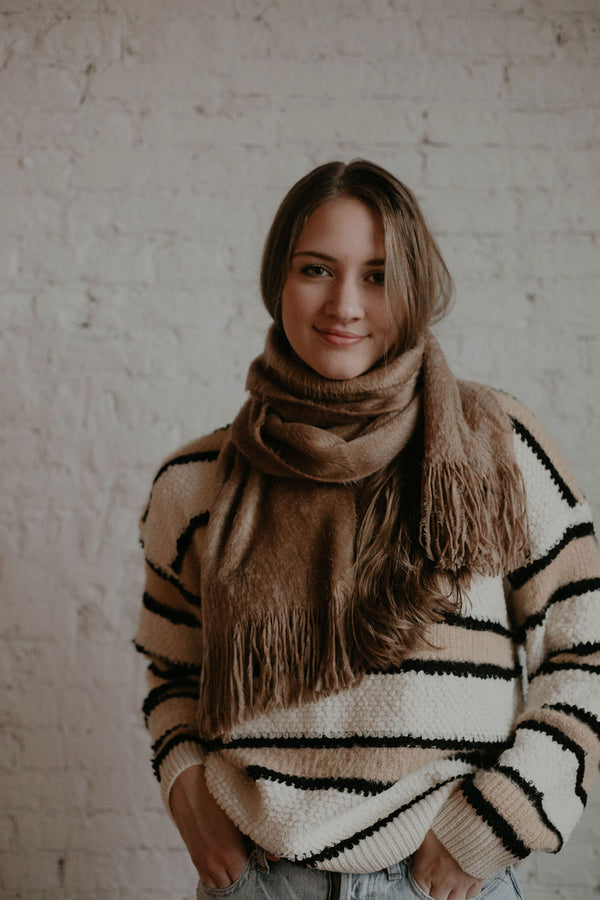 Stocking Stuffer :: Eva Tan Fuzzy Scarf